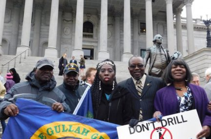 Queen Quet at the #StoptheDrill Rally outside the State House in South Carolina